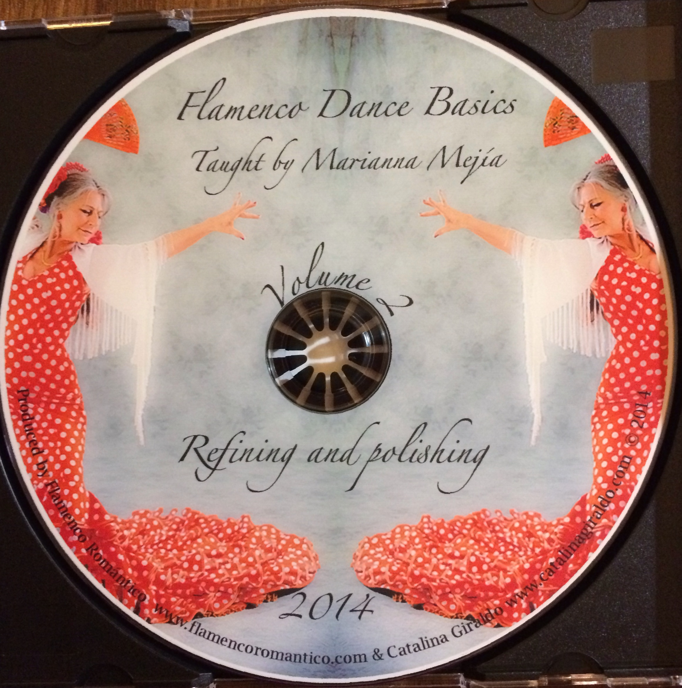 Flamenco Dance Basics Vol 2, DVD Label