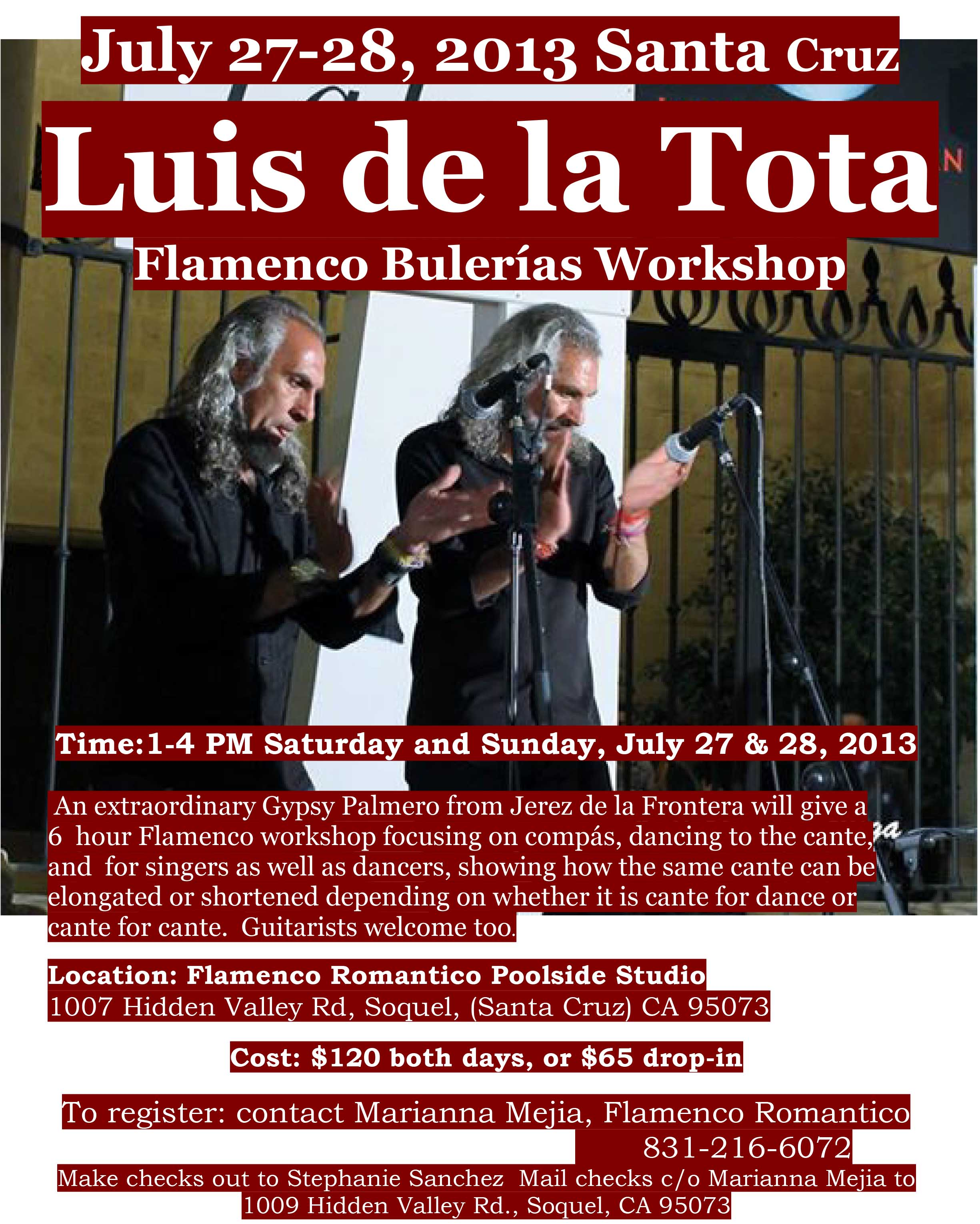 Luis de la Tota Flamenco Workshop 2013